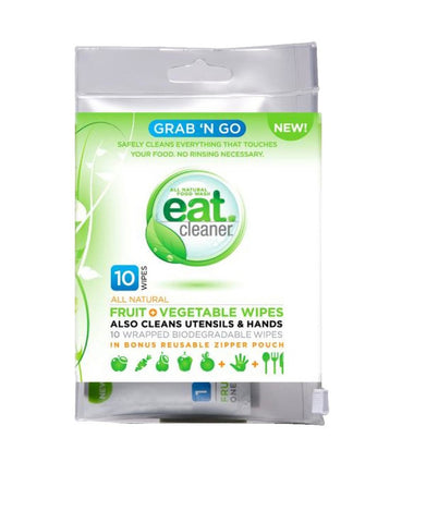 Vegetable Wipes, Grab N' Go Fruit, 10 per Pack.
