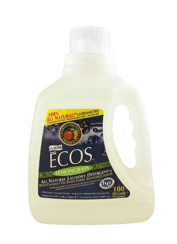 ECOS Lemongrass Ultra Laundry  Liquid, 100 oz.