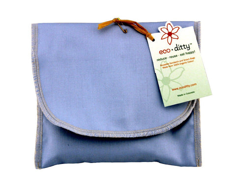 Wich Ditty organic sandwich bag, Powder Blue (Solid).