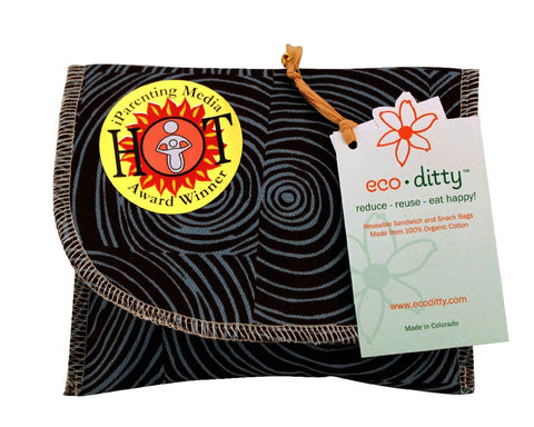 Snack Ditty organic snack bag, Let it Grow Brown.