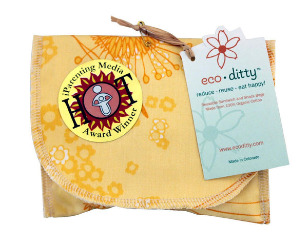 Snack Ditty organic snack bag, Fields of Honey.