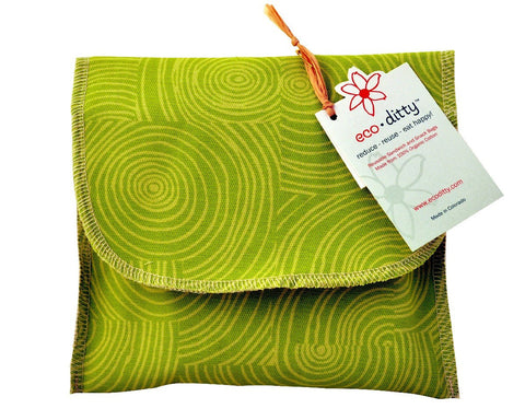 Wich Ditty organic sandwich bag, Let It Grow Green.