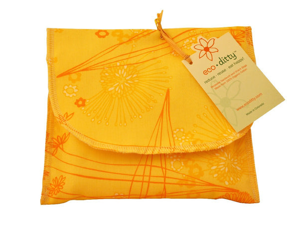 Wich Ditty organic sandwich bag, Fields of Honey.