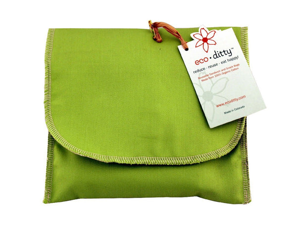 Wich Ditty organic sandwich bag, Spring Green (Solid).