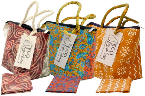 Eco Lunchette with 1 napkin, Assorted Colors  8 x 13 x 5.