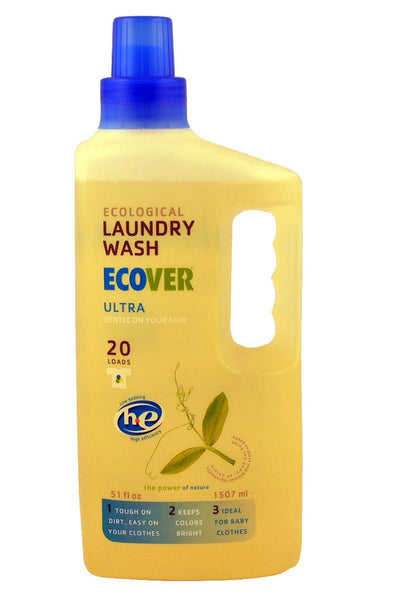 Ultra Liquid Laundry Wash HE 20 loads, 51 oz .