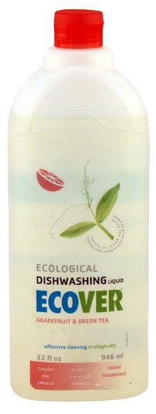 Dishwashing Liquid, Grapefruit & Green Tea, 32 oz.