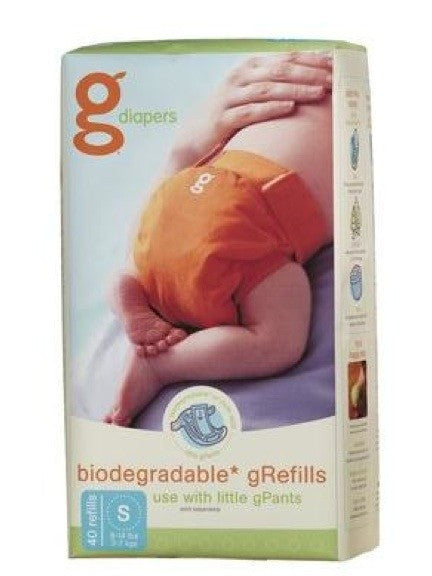 gDiaper Flushable Refill, Small, 40 per pack.