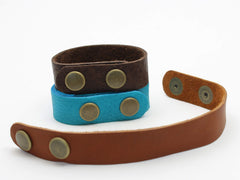 Wide Teton Leather Cuff Bracelet - Daphne Lorna Jewelry