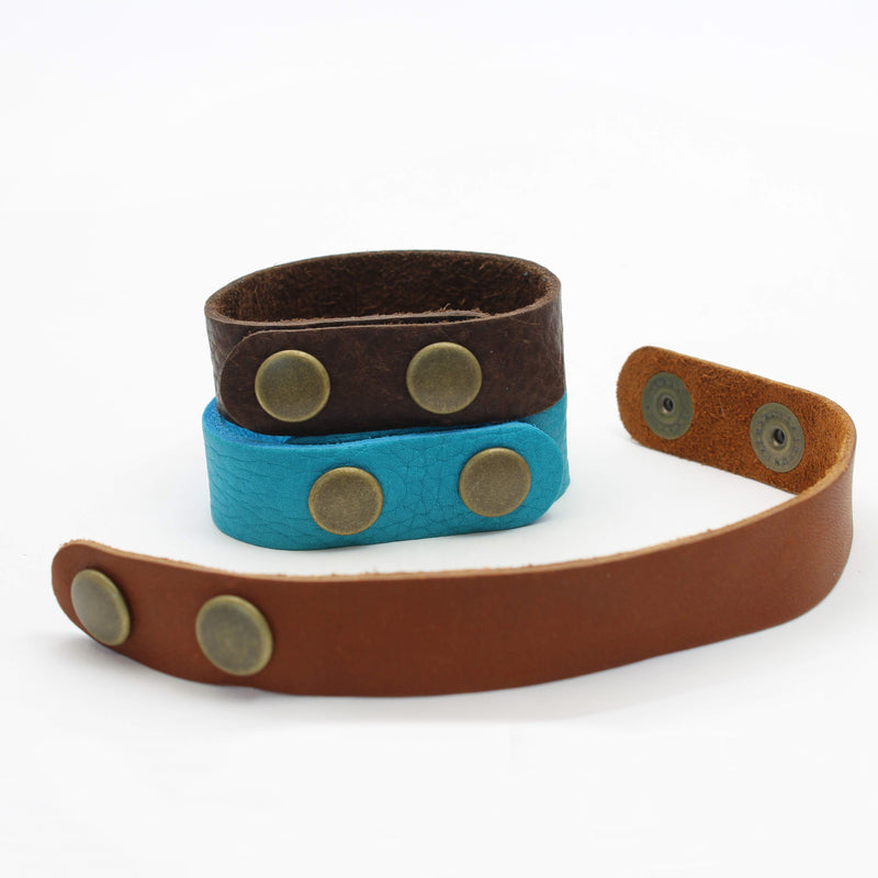 Mountains on Buff Leather Cuff Bracelet, [variant_title], daphne lorna