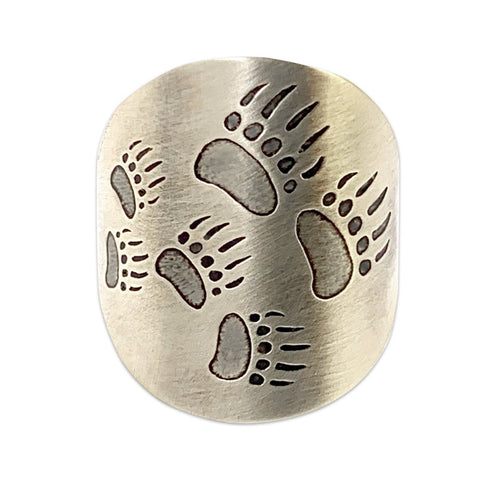 Bear Tracks Adjustable Ring
