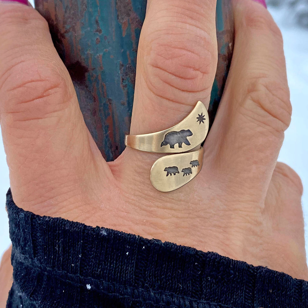 Mama and Cubs Adjustable Ring, [variant_title], daphne lorna