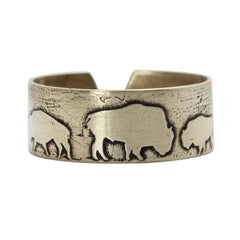 Bison Circles Adjustable Ring - Daphne Lorna Jewelry