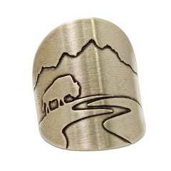 Buff in the Tetons Adjustable Ring Daphne Lorna