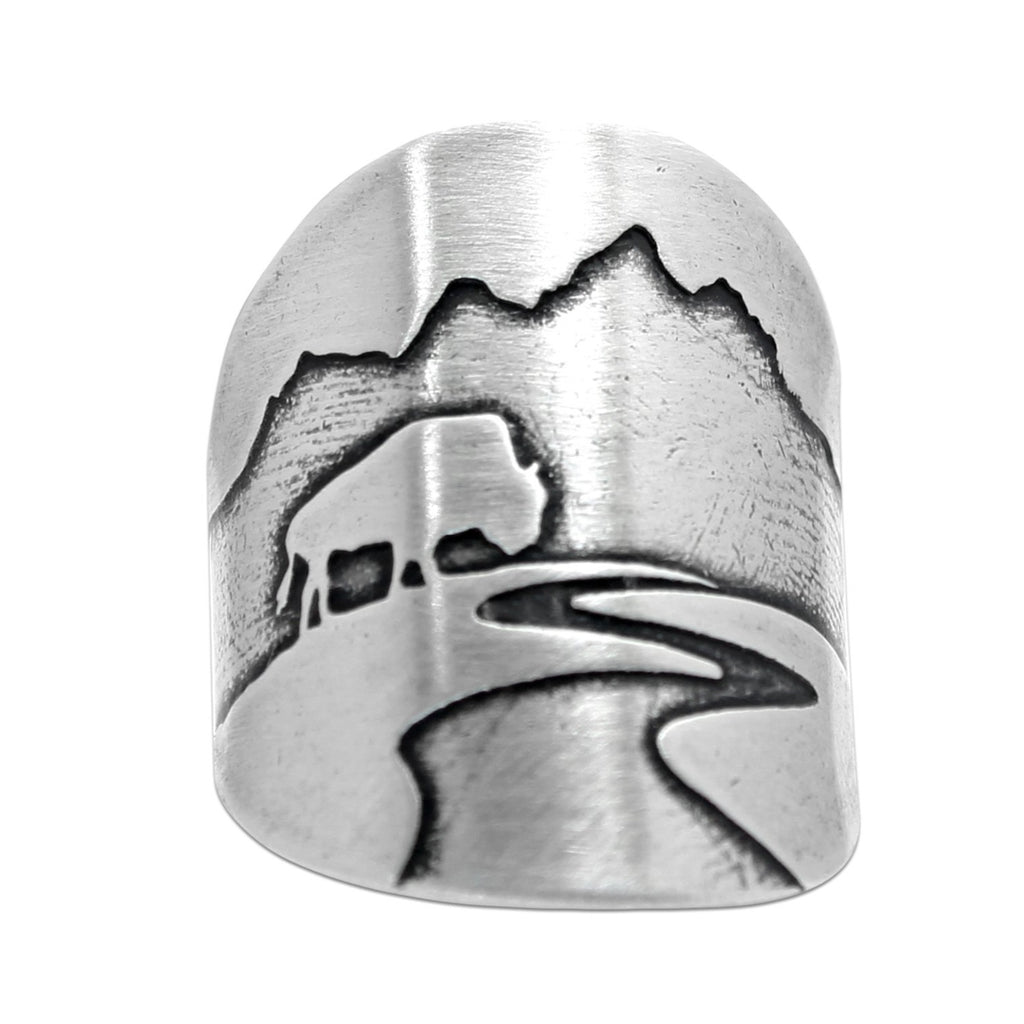 Buff in the Tetons Adjustable Ring, Matte Silver / One Size, daphne lorna