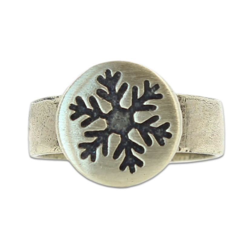 Snowflake Adjustable Ring, Antique Brass, daphne lorna