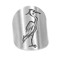 Blue Heron Adjustable Ring Daphne Lorna
