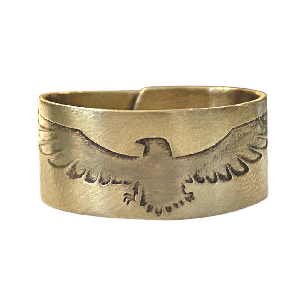 Freebird Adjustable Ring, Antique Brass, daphne lorna