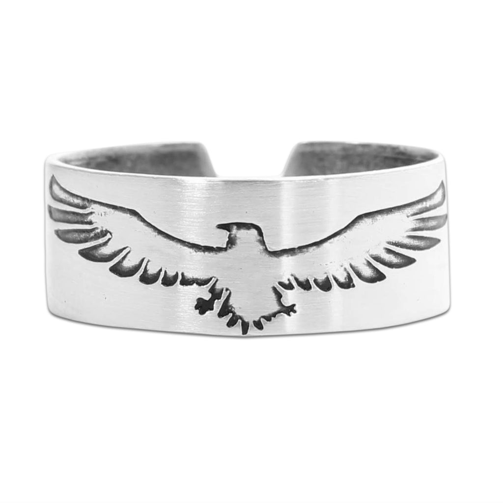 Freebird Adjustable Ring, Matte Silver, daphne lorna