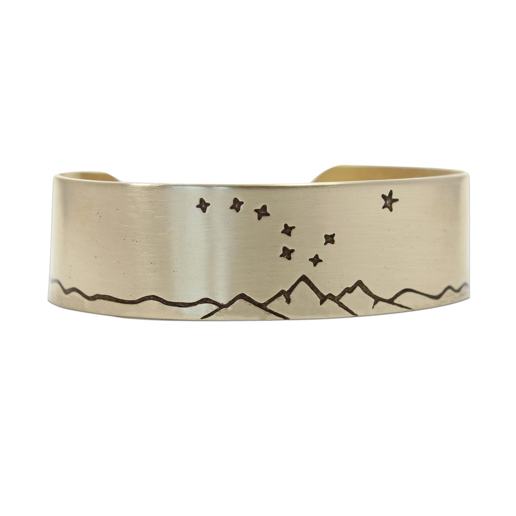 Big Dipper Cuff Bracelet, Antique Brass / Womens, Daphne Lorna