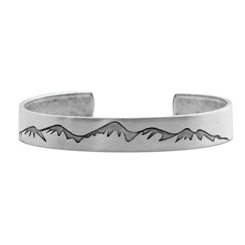 Snowcap Mountains Cuff Bracelet