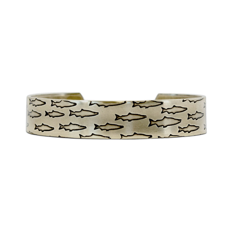 Salmon Run Cuff Bracelet 2, Antique Brass / Women's, daphne lorna