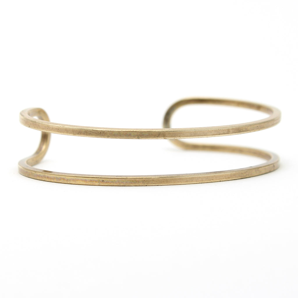 Open Space Cuff Bracelet, Antique Brass / Women's, daphne lorna