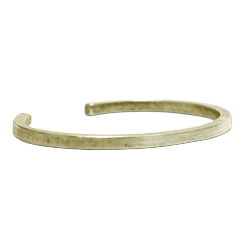 Simple All Square Cuff Bracelet - Matte Silver or Antique Brass