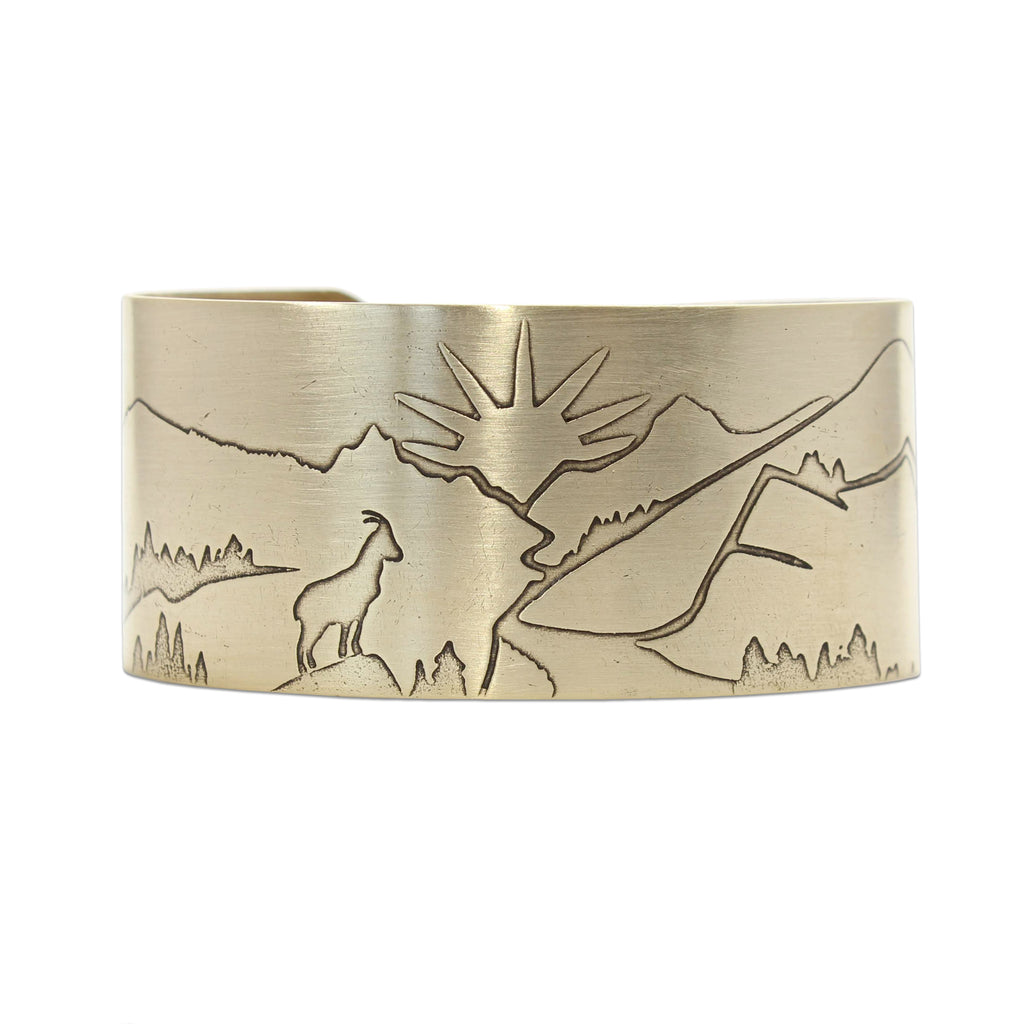 Going to the Sun Road Cuff Bracelet, Antique Brass, daphne lorna