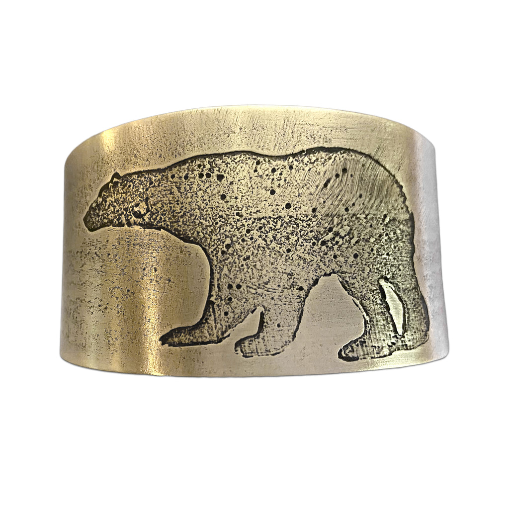 Polar Bear Cuff, Antique Brass, Daphne Lorna