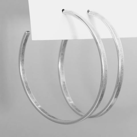 Simple Large Hoop Earrings