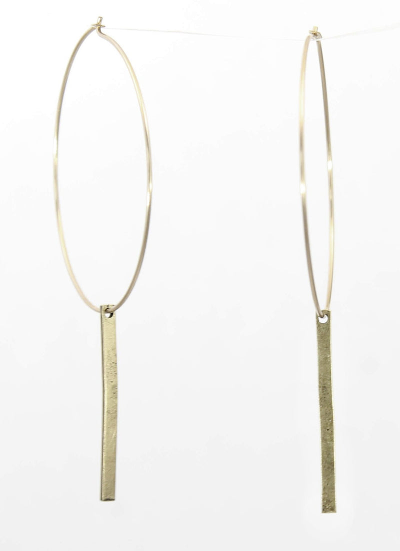 Twigs Hoop Earrings, Antique Brass, Daphne Lorna