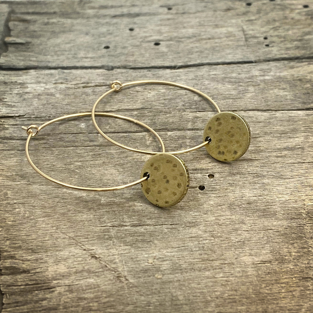Mini Moon Hoop Earrings, [variant_title], daphne lorna