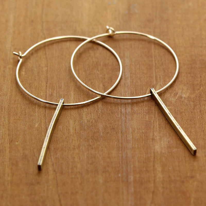 Twigs Hoop Earrings, [variant_title], Daphne Lorna