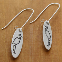 Blue Heron Earrings Daphne Lorna