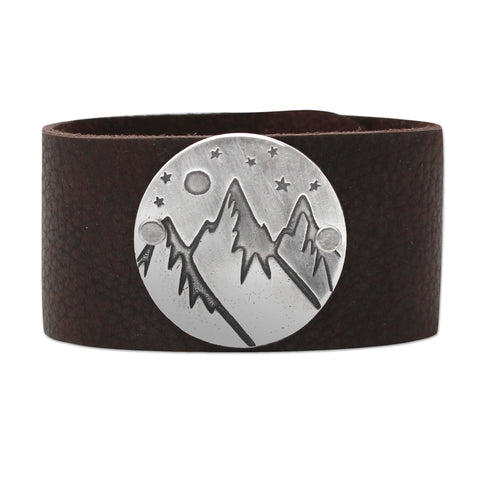 High Alpine Leather Cuff Bracelet