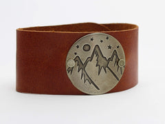 High Alpine Leather Cuff Bracelet, [variant_title], Daphne Lorna