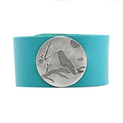 Raven Leather Cuff