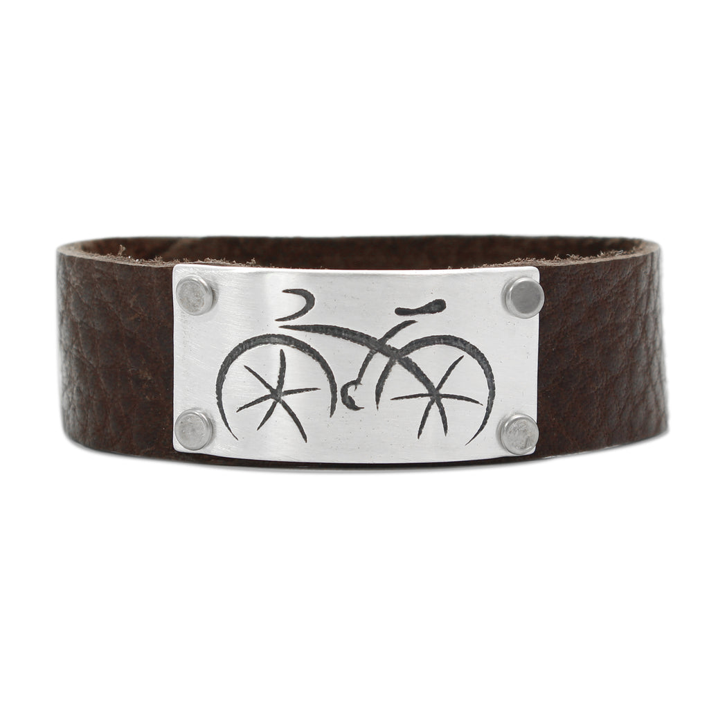 Ride Leather Cuff Bracelet - Daphne Lorna Jewelry