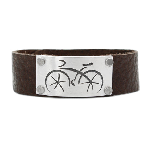 Ride Leather Cuff Bracelet