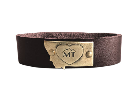 Big Love Montana Leather Cuff Bracelet