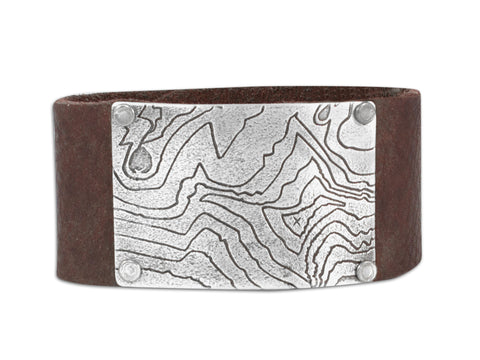 Rising Wolf Leather Cuff Bracelet