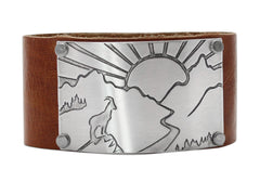 Going to the Sun Road Leather Cuff - Daphne Lorna Jewelry
