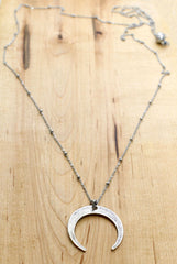 Moon Long Layered Necklace Daphne Lorna