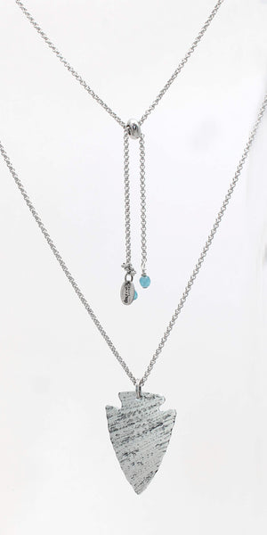 Arrowhead Long Layered Necklace, [variant_title], daphne lorna