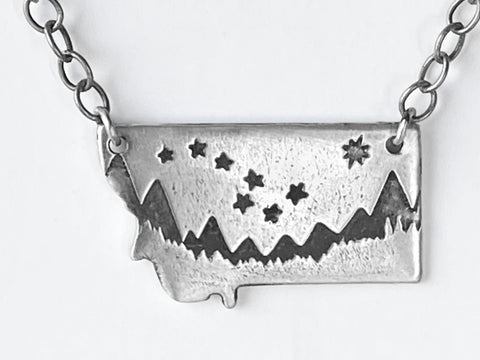 Big Dipper Over Montana Necklace