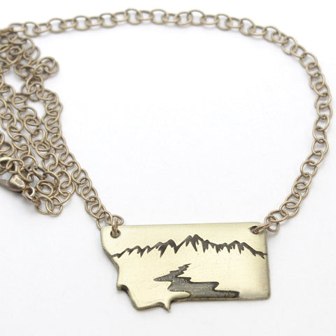 The River Runs in Montana Necklace