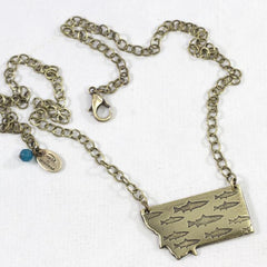 Fishing In Montana Necklace - Daphne Lorna Jewelry
