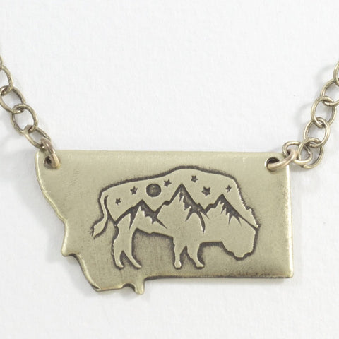 High Alpine Bison in Montana Necklace