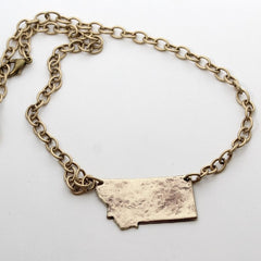 Montana Necklace, Antique Brass / Chain, Daphne Lorna